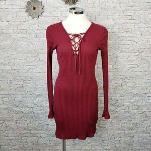 Kendall & Kylie Ribbed Dress Large